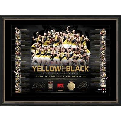 Richmond Dual Signed Framed 2017 Afl Premiers Limited Edition Lithograph Martin