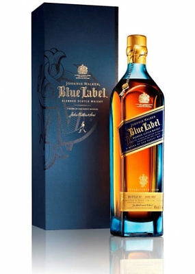 Johnnie Walker BLUE LABEL 750ml Boxed Scotch Whisky.