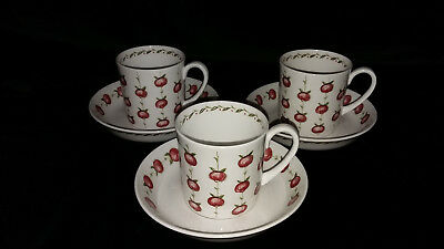 Susie Cooper Applegay Cups and Saucers.
