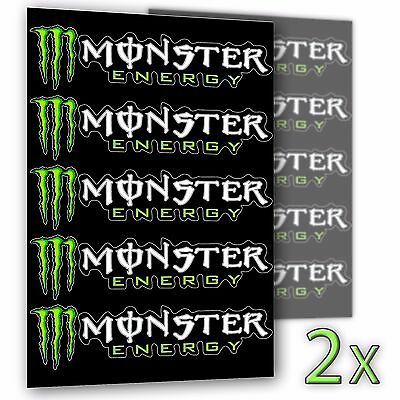 """Monster Energy Drinks Logo Sticker Decal 8"""" By 2"""""""