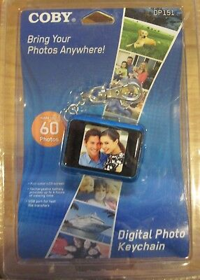 """Coby DP-151 1.5"""" LCD Digital Picture Keychain Holds 60 Photos"""