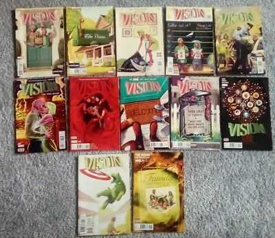 The Vision #1 2 3 4 5 6 7 8 9 10 11 12 Full Set Tom King Marvel 2016 1St Print