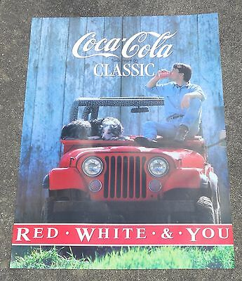 Coke Coca Cola Classic Poster Red White and You NOS