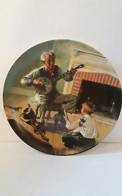 Norman rockwell plate The Banjo Player Heritage collection  numbered knowles