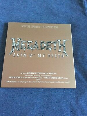 """Megadeth Skin O' My Teeth 10"""" Vinyl Special Edition Box Includes Game Passes New"""