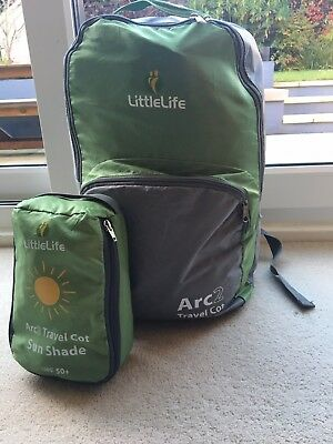 Littlelife Arc 2 Travel Cot And Beach Tent With UV Blackout Cover