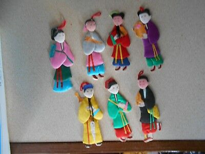"Vintage Handmade Figurines Ornaments- Made in Republic of China 4"" in Box"