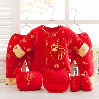 6 Pcs Cotton Padded warm Newborn Baby Clothes Girls Boys Winter Outfits & Sets