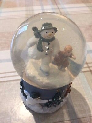 The Snowman wind up musical snow globe