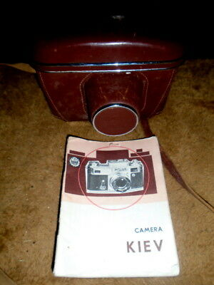 Vintage Soviet Kiev Type 4 Camera. Case. Manual!!