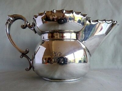 "Unusual Walker & Hall Silver Plate Moustache Cup 4"" Tall"