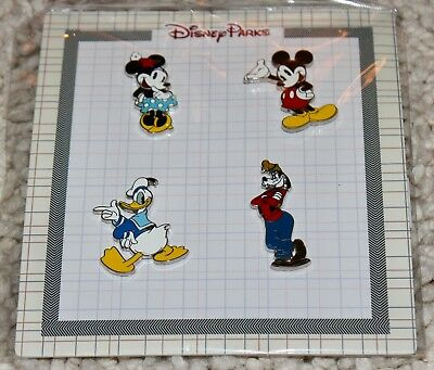 Disney Parks Classic Mickey and Friends 4 Pin Booster Set Trading Pins Pack