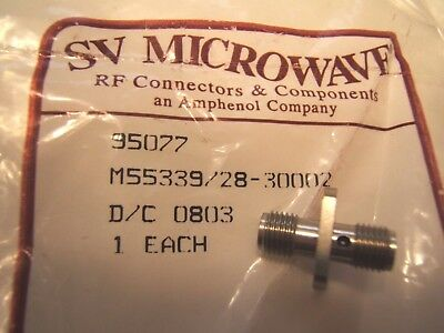 Sv Microwave Rf Sma Mil Spec Connector M55339/28-30002. F To F,4 Hole Nos