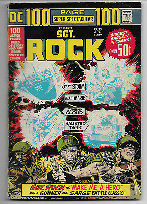 100 Page Super Spectacular Dc-16 Sgt Rock Haunted Tank