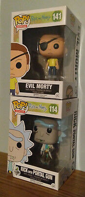 Funko POP! #141 and #114 - RICK AND MORTY! - SET OF 2 - EXCLUSIVES!