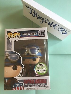 FUNKO POP! Marvel #219 WWII Captain America ECCC 2017 EXCL w/soft protector