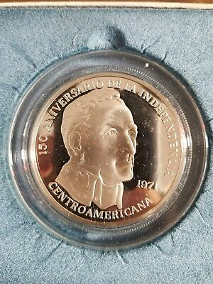 1971 Panama 20 Balboas Sterling Silver Coin 3.85 ozt Proof