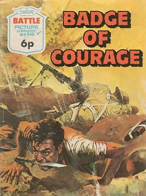1972  No 646 38418  Battle  Picture Library  BADGE OF COURAGE