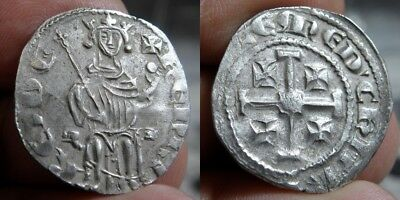 105M  Crusaders - Kingdom Of Lusignan - Henry  Ii 1285-1324 A.d. - Ar Gros