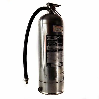 Badger Automatic Water Fire Extinguisher Stainless Steel 2-1/2 Gallons WP-61