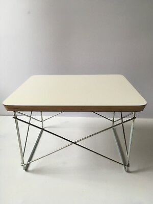 Charles and Ray Eames Vintage Coffee Table 'LRT' White Herman Miller Made in USA