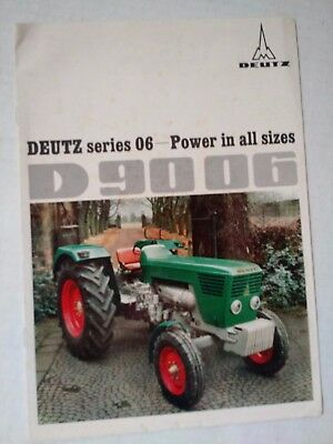 Original Early 1970's Deutz Series 06-D 9006 Tractors Brochure