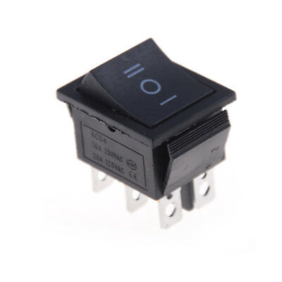 2PCS KCD4 Rocker Switch Black DPDT ON/OFF/ON 6 PIN 16A/250VAC 20A/125VACCH