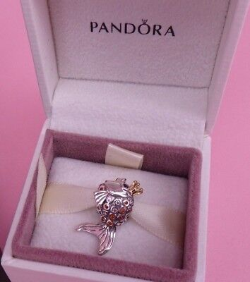 Genuine Authentic Pandora Fairytale Fish Charm 792014CCZ New Rare Russia Exc