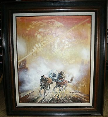 Large Ronald Wilkinson Western Hand Painted Original Of American West