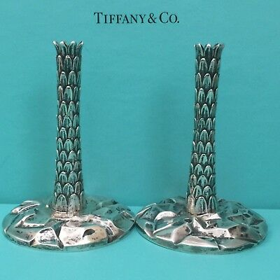 rare Tiffany & Co. Palm Tree Candlesticks sterling silver (retailed~$8,000 each)