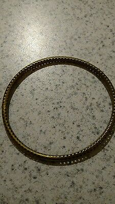 vintage brass bangle bracelet