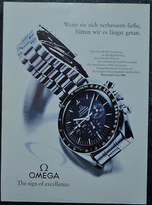 Original Werbung advertising Omega Speedmaster Professional Neil Armstrong