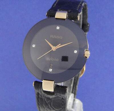 Rado Jubile Stahl/plaque/diamanten