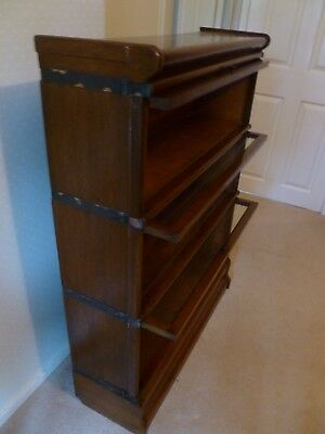 3 Section (5 Piece)  Antique Oak Globe Wernicke Bookcase