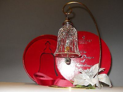Waterford Bell Ornament 12 Days of Christmas 3 French Hens Crystal MIB- Araglin