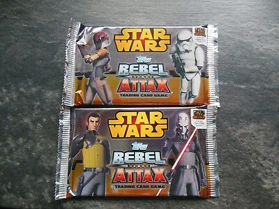 28 Tütchen Star Wars Rebel Attax Trading Card Game Topps ungeöffnet