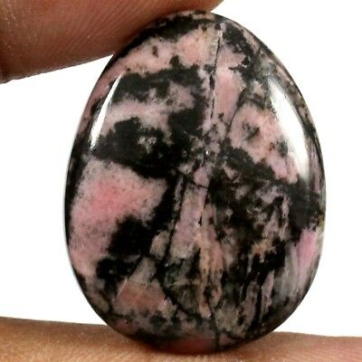 29.85 cts Natural Gorgeous Designer Rhodonite Untreated Gemstone Fancy Cabochon