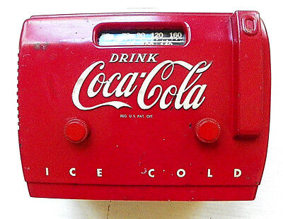 "1949 Original ""drink Coca-Cola"" Cooler Baklite 5-Tube Working Radio"