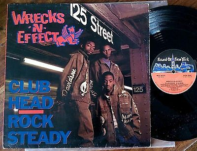 "Wrecks-N-Effect‎–""Club Head""/""Rock Steady"" Original 1989 US 12"""