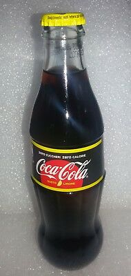 Coca Cola  Zero  Full Rare 330 Ml Bottle From Milano Italy