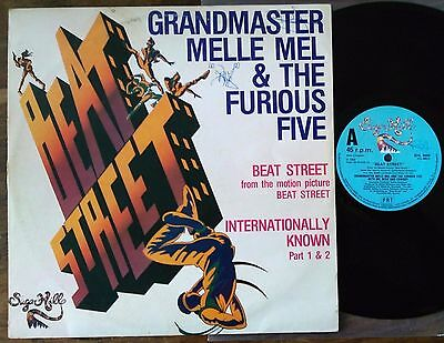 "Grandmaster Melle Mel & Furious Five‎–""Beat Street/Internationally Known PT1&2"""