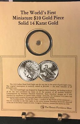 The Worlds First Miniature $10 Gold Piece gold eagle