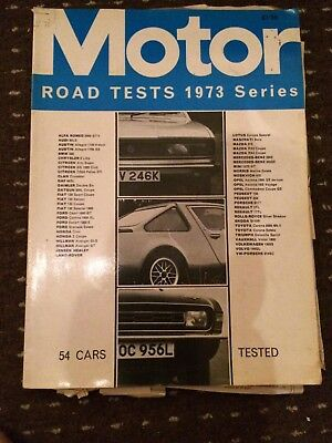 Motor Road Tests Annual Magazine 1973