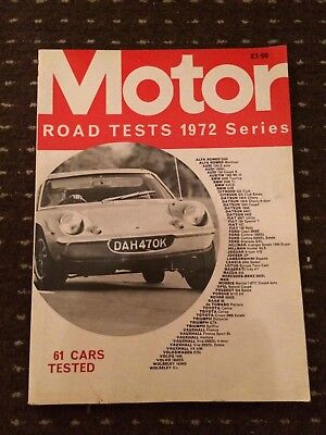 Motor Road Tests Annual Magazine 1972