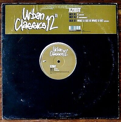 "Xzibit‎– ""X / What U See Is What U Get"" Original UK 12"""