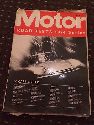 Motor Road Tests Annual Magazine 1974