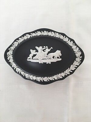 Wedgwood Black Jasperware Trinket Box