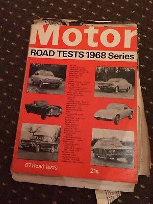 Motor Road Tests Annual Magazine 1968