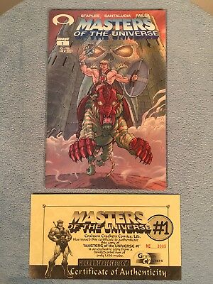 MASTERS OF THE UNIVERSE #1 GRAHAM CRACKERS VARIANT Image Comics 2002 He-Man COA