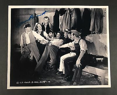 Three 3 Stooges Co-Star Bruce Bennett SIGNED Photo How High Is Up Nice!